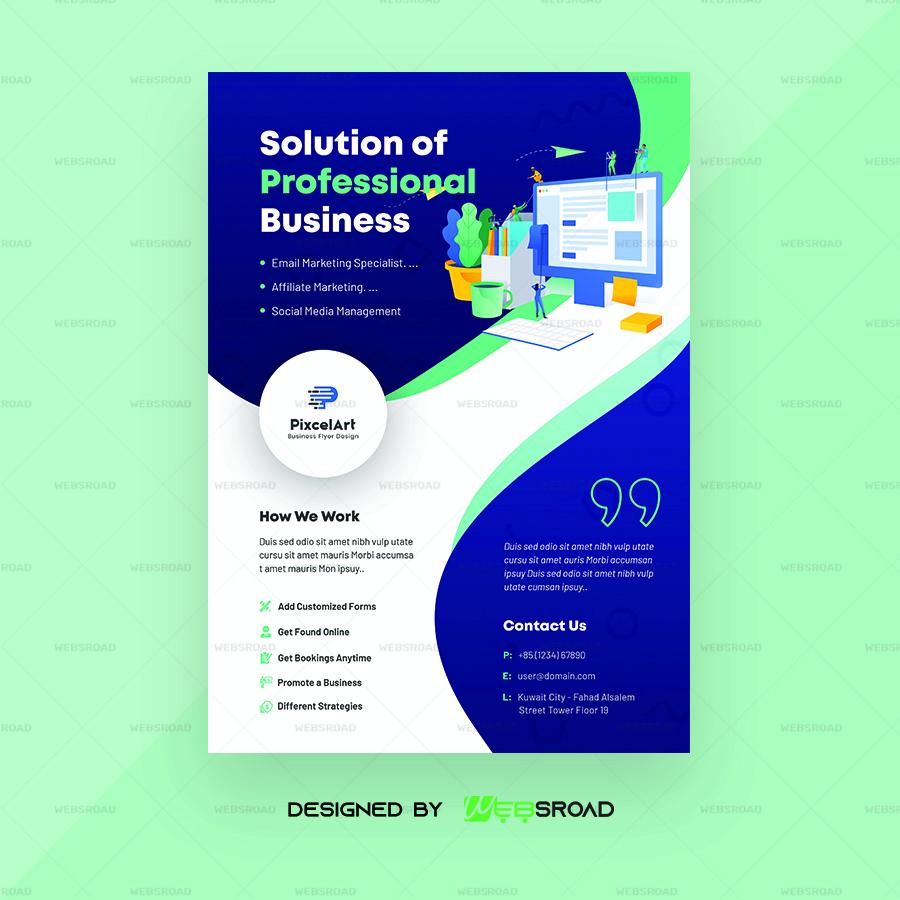 Crow Business Flyer Free Psd Template Websroad Websroad Web Development Web Designing Digital Assets